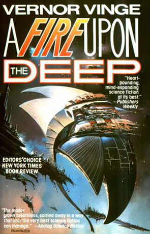 A Fire Upon the Deep, a novel by Vernor Vinge