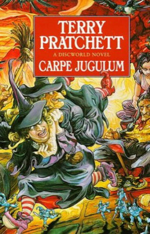 Carpe Jugulum, a novel by Terry Pratchett