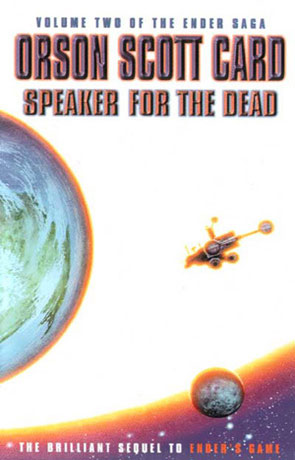 Speaker for the Dead, a novel by Orson Scott Card